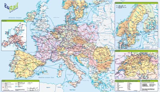 Europe-Train-Map